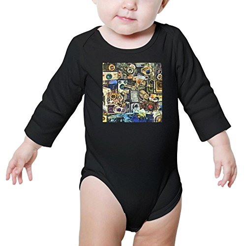 PROOJJEW Vintage Abstract Super Camera Baby Outfits Long Sleeve Fitted - Dslr Outfit