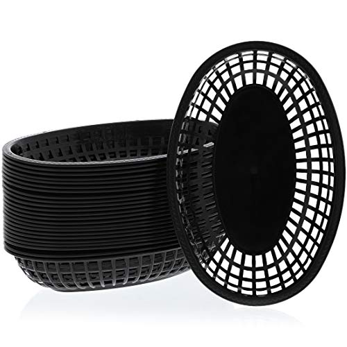 (Juvale Plastic Oval Food Baskets for Deli Fast Food Service (24-Pack))