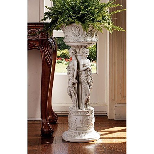 Design Toscano Chatsworth Manor Neoclassical Urn Pedestal Plant Stand ()