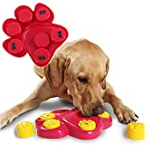 Kathson Dog Food Treat Dispensing Brain Interactive Exercise Game Puzzle Training Finder Toys for Dogs,Slow Feeder Bowl Helps Prevent Bloating