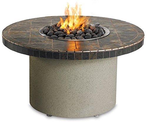 Sedona By Lynx Falcon Gray Circular Gas Fire Pit Table