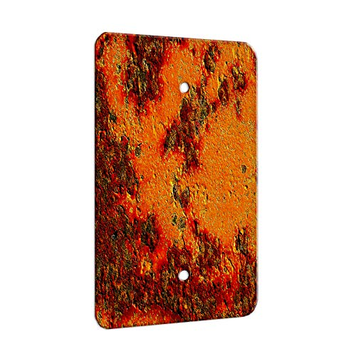 Decorative Wall Textures - Textures Red Stone - Decor Switch Plate Cover Metal (1 Gang Blank)