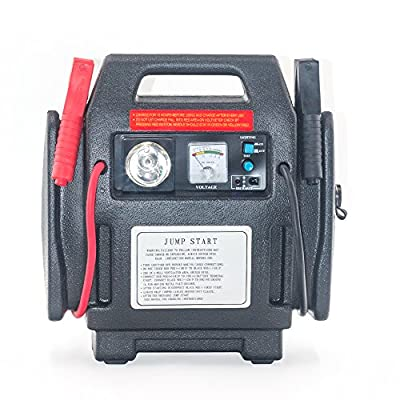 900Peak Amp Jump Starter Battery Charger Air Compressor Booster Pack Car Bay Valley Parts