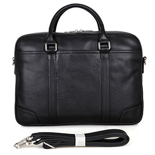 Polare 15.6'' Retro Genuine Leather Laptop Messenger Bag Office Briefcase by Polare