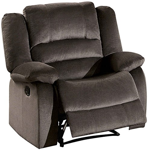 Homelegance Jarita Reclining Chair Polyester Fabric Cover, Chocolate