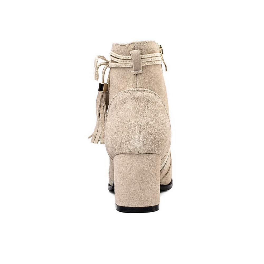 AN DKU02785, Damen Durchgängies Plateau Sandalen Sandalen Sandalen mit Keilabsatz, Beige - Aprikose - Größe  36 84a6cd