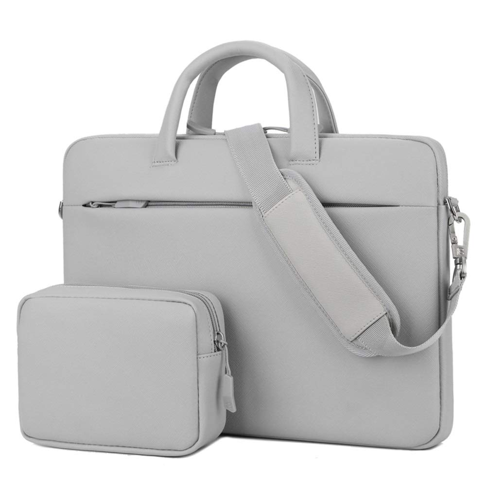 Color : Gray Stylish Multi-color Laptop Shoulder Bag Sturdy Laptop Tote Bag Multi-function Computer Bag QINRUIKUANGSHAN Multi-function Handbag