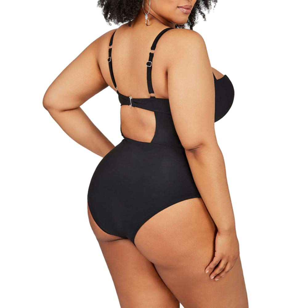 Women Plus Size One-Piece Swimsuit Swimwear Bikini Halter for Beach Bathing Suit