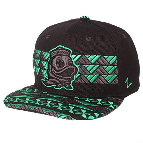 Zephyr NCAA Oregon Ducks Men's Kolohe Snapback Hat, Adjustable, Black/Team Color