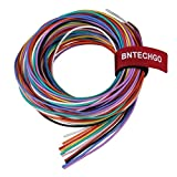 BNTECHGO 22 Gauge Silicone Wire Kit Ultra Flexible 10 Color High Resistant 200 deg C 600V Silicone Rubber Insulation 22 AWG Silicone Wire 60 Strands of Tinned Copper Wire Stranded Wire Model Cable