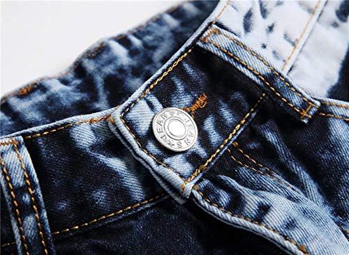 Pantaloni Morbidi Hellblau Ssig Comodi Cotton Slim Dritti Ragazzo Fashion Vintage Da Fit Jeans Uomo qwzHav