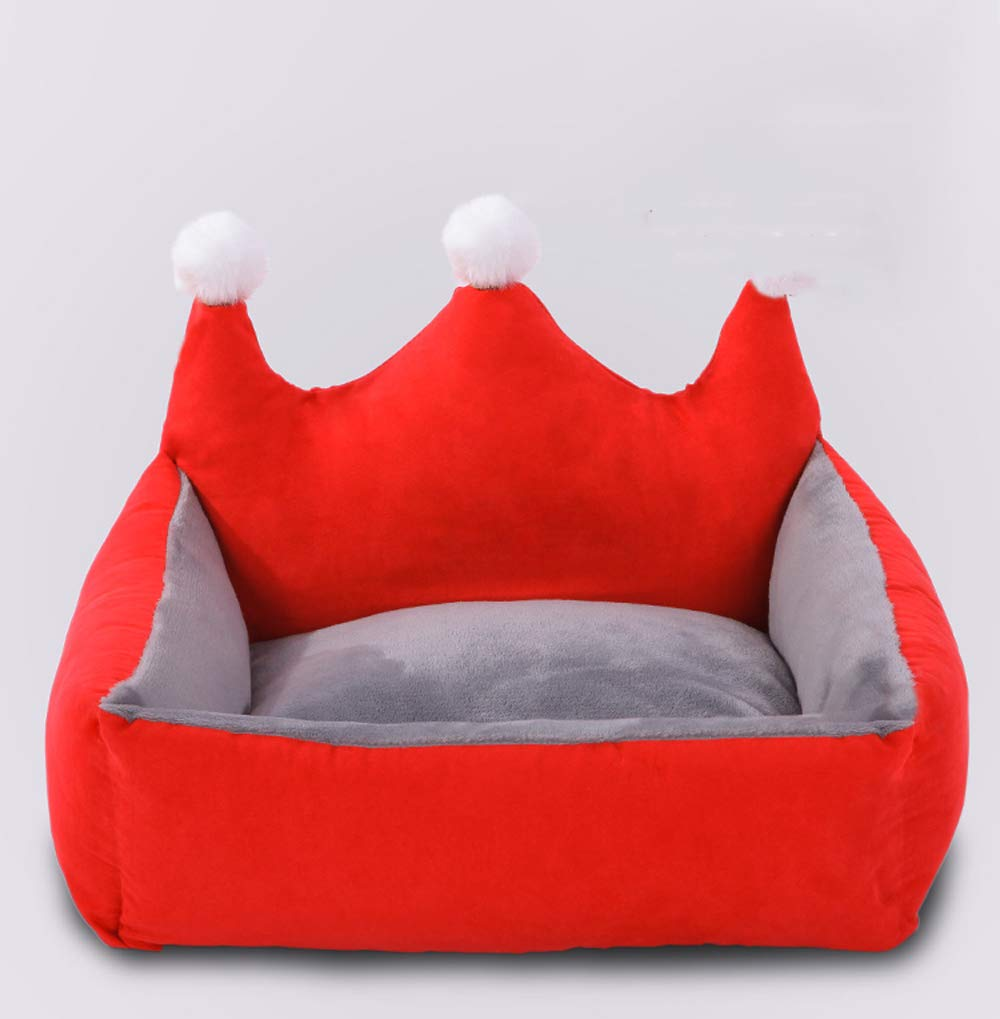 Red Small red Small Warm Thickening Removable and Washable Cute Creative Princess nest Dog Kennel