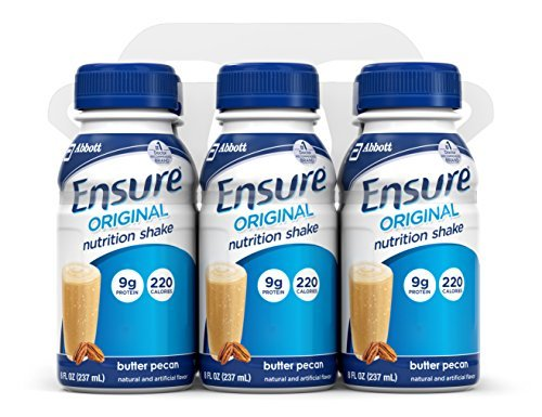 Ensure Complete Balanced Nutrition Drink, Butter Pecan, 8-Ounce (Pack of 24) by Ensure ()