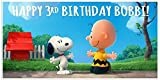 Snoopy Peanuts Charlie Brown Birthday Banner Personalized Custom Party Decoration