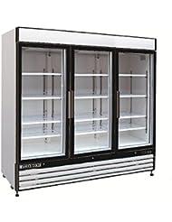 Maxx Cold MXM3 72R Refrigerator X Series 3 Glass Door Upright Reach In Cooler