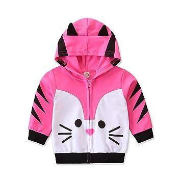 Kids Boys Girls Zipper Long Sleeve Autumn Jackets Outwear Sweatshirt Coat Tops