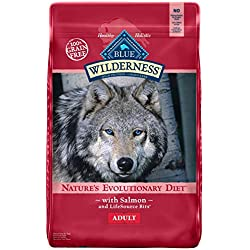 Blue Buffalo Wilderness High Protein Grain Free, Natural Adult Dry Dog Food Salmon 24-lb