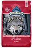 BLUE Wilderness 840243105373 Buffalo Wilderness High Protein Grain Free Natural Adult Dry Dog Food Salmon 24-Lb, 24 lb, Blue