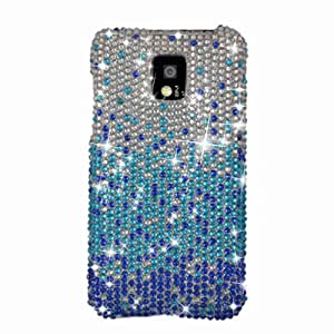 Eagle Cell PDLGG2XF381 RingBling Brilliant Diamond Case for LG G2x/Optimus 2x - Retail Packaging - Blue Waterfall...