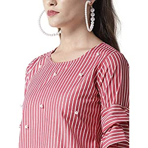 Style Quotient Women Blue Striped Top