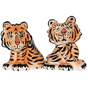 Westland Giftware Ark Safari  Tigers Salt and Pepper Shaker Set, 2-3/4-Inch