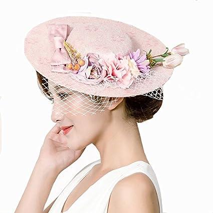 Amazon.com  TTjII Cocktail Fashion Flower Sinamay Fascinator Hair Clip  garden Women Kentucky Derby Church Tea Party Wedding Hats Hairpin Hat Party  Derby ... a016c03ac83