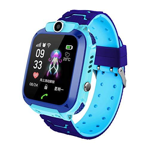 Yzki Smartwatch für Kinder, GPS-Tracker, Touch-Farbdisplay, IP67, wasserdicht, Anti-Verlust-Handgelenk, mit SOS-Kamera…