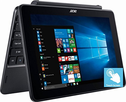 Flagship Acer 10.1″ HD IPS 2-in-1 Touchscreen Detachable Business Laptop, Intel Atom Quad-Core x5-Z8350 up to 1.92GHz, 2GB DDR3, 32GB SSD, Intel HD Graphics 400, Bluetooth, HDMI, Win 10, Black