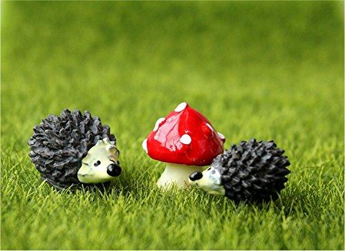 CJESLNA Miniature Ornament Hedgehog Mushroom product image