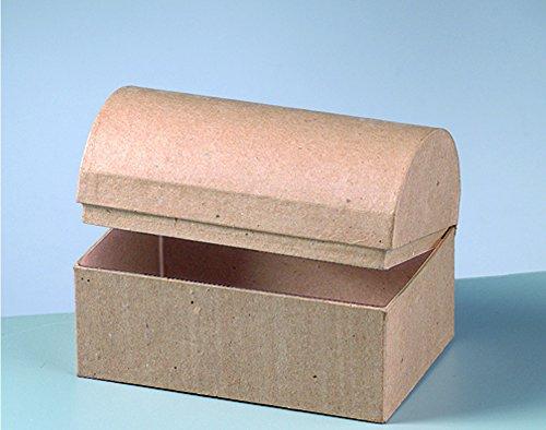 (Paper Mache Small Treasure Chest to Decorate 15x10x10.5cm   Papier Mache Boxes)