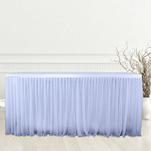 108'' x 30'' Wedding Party Birthday Party Activities Decoration Gauze Table Skirt 9ft Tutu Table Skirt by Aneil