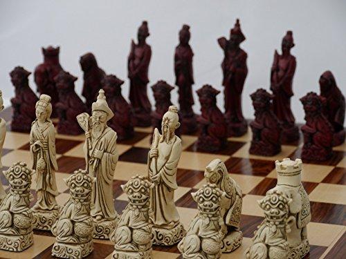 新作モデル Mandarin Ornamental Chess Set not (cream and red, red, board Set not included) B07235S8XK, MAZA FIGHT:40039690 --- nicolasalvioli.com
