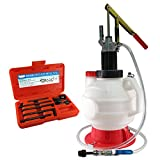 FIT TOOLS Manual 7.5L ATF OIL Dispenser with 8 Pcs ATF Adapter Refill System Kit