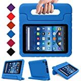 ANMANI All New Fire 7 2017 Kids Case - Light Weight Shock Proof Handle Kid-Proof Cover Kids Case for All New Fire 7 Tablet (7th Generation, 2017 Release), Blue