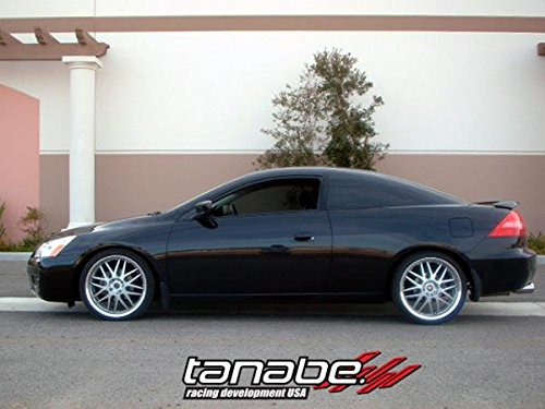 Tanabe TNF075 NF210 Lowering Spring with Lowering Height 1.5/1.5 for 2003-2007 Acura TSX LA-CL9/ Honda Accord 4 Cylinder and Lowering Height 1.3/1.0 for Accord V6 (Tanabe Sustec Nf210 Lowering Springs)
