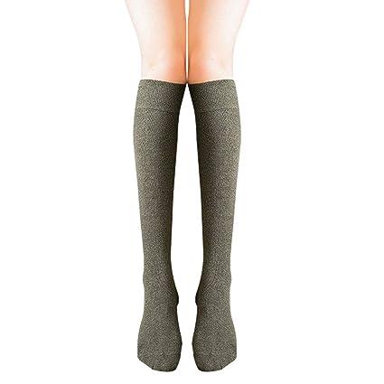 Haodou Pila de Calcetines Mujer Color Sólido Uniforme Media Pierna Pantorrilla Calcetines Japoneses Lindos Calcetines Universidad