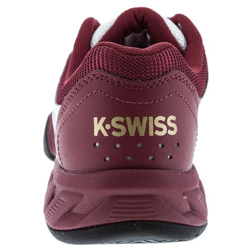 K-Swiss 83338 Mens Bgshot Light 2.5 Shoe, White/Biking Red/Black/Gold - 7