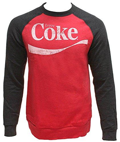 (Hybrid Coca-Cola Enjoy Coke Classic Logo Men's Pullover Sweatshirt (Medium))