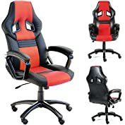 GTracing Executive High-Back Gaming Chair Computer Office Chair PU Leather Swivel Chair Racing Chair Red