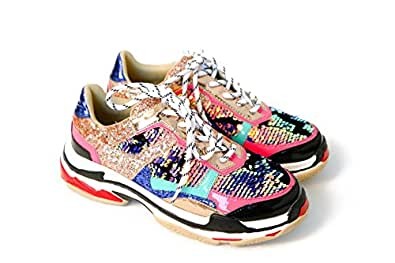 Cape Robbin Women Chunky Trainer Sneakers Flagship (6, Multi)