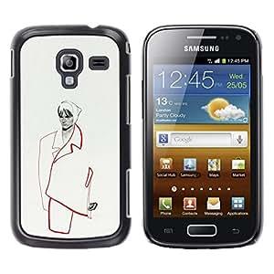 Be Good Phone Accessory // Dura Cáscara cubierta Protectora Caso Carcasa Funda de Protección para Samsung Galaxy Ace 2 I8160 Ace II X S7560M // fashion minimalist woman couture