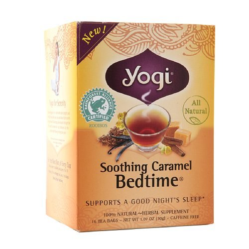 Yogi Tea Herbal Tea, Soothing Caramel Bedtime 1.07 oz (Pack of 2)