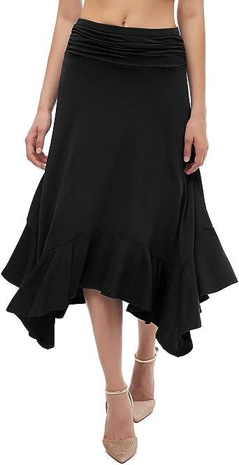 Bridesmay Falda para Mujer Asimétrica Vintage Traje de Danza Baile ...
