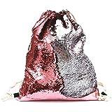 Sequin Bag Mermaid Drawstring Backpack Glitter...
