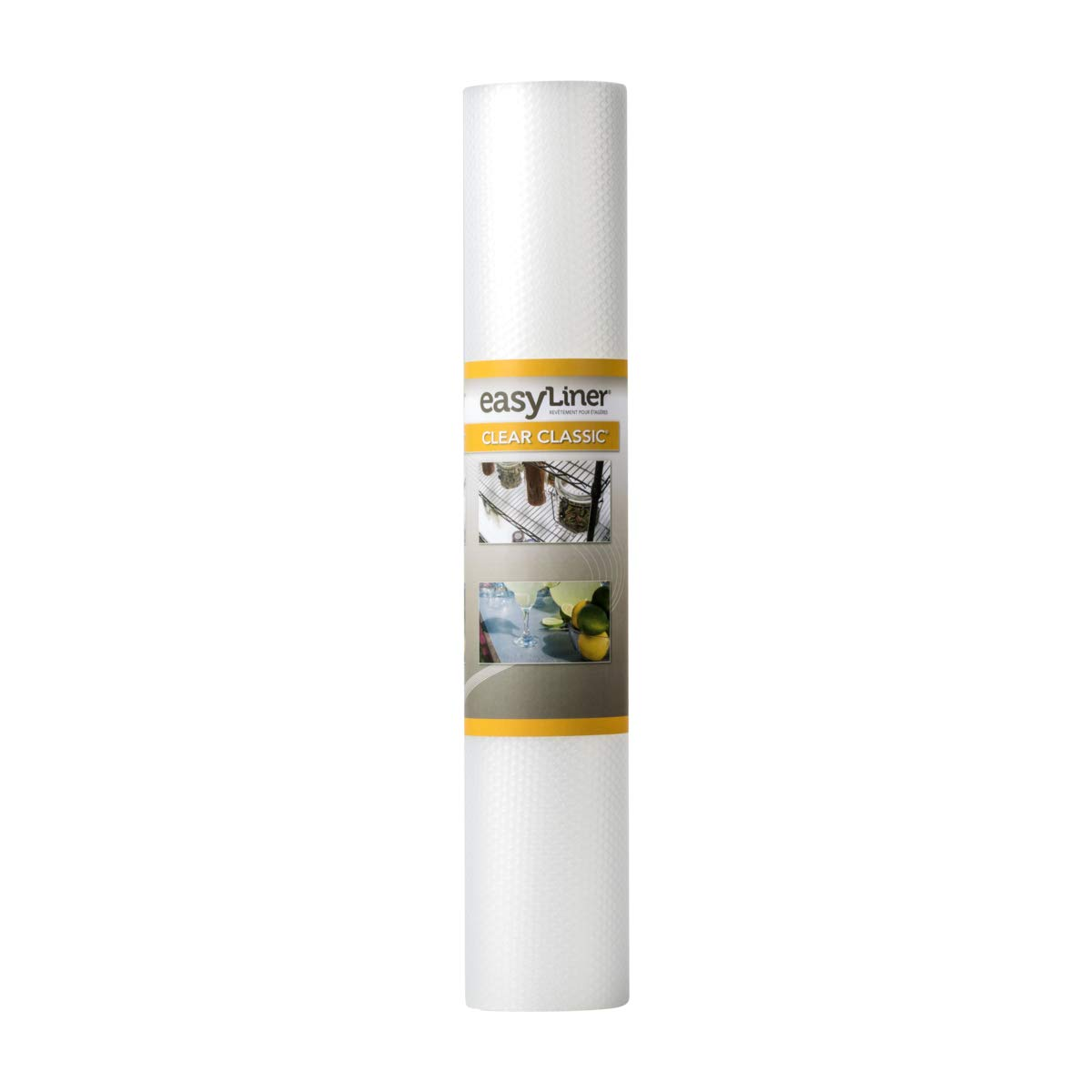 Duck Brand Clear Classic Easy Shelf Liner, Non-Adhesive, 24 Ft. Roll,