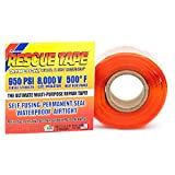 Rescue Tape RT1000201207USCO Self-Fusing Emergency Repair Tape, Orange, Silicone