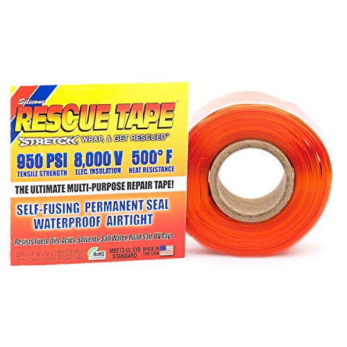 Rescue Tape | Self-Fusing Silicone Tape | Emergency Pipe & Plumbing Repair | DIY Repairs | Seal Radiator Hose Leaks | Wrap Electrical Wires | Used By US Military | 1