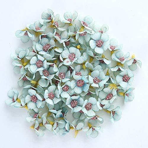(CoronationSun - Decor Flower - 50pcs Artificial Flower Silk Daisy Flower Head Wedding Party Home Decoration DIY Wreath Scrapbook Gift Box Crafts)