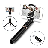 Image of Selfie Stick,JSAUX Bluetooth Handheld Tripod 3 in 1 Foldable Extendable Selfie Stick Monopod with Built-in Remote for Samsung Galaxy S8 S8+,Note 8 5,iPhone 8 X 7 6s 6 plus, Nexus, LG, Moto and More