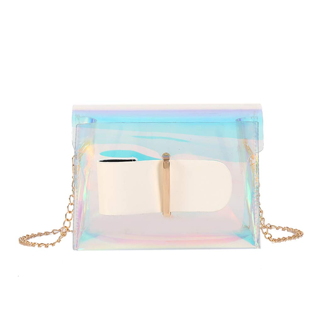 Women Wild Messenger Bag Transparent Jelly Bag Shoulder BagHandbags&Clutches&Evening Bags